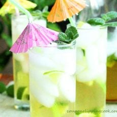 Brown Sugar and Mint Limeade
