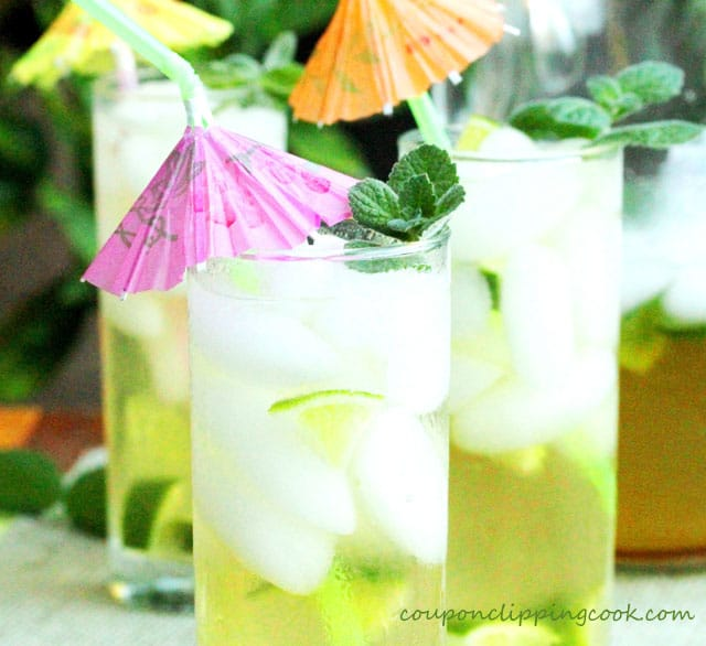 Brown Sugar and Mint Iced Limeade