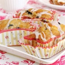 Mini Banana Blueberry Loaves