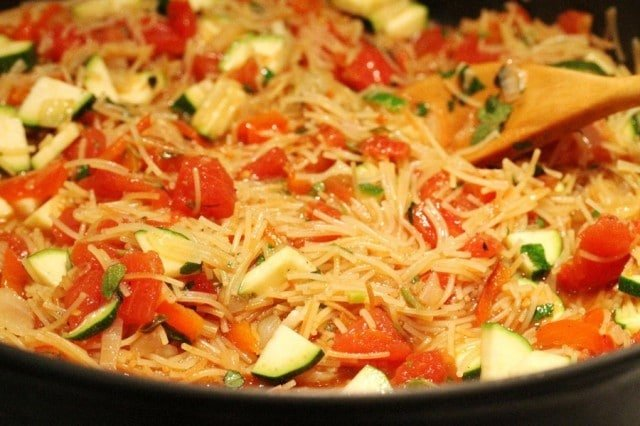 Fideo Pasta in Skillet