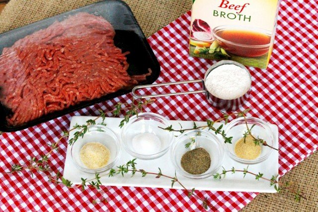 Ground Beef Gravy Ingredients