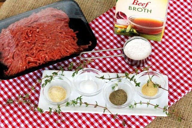 Ground Beef Gravy Ingredients