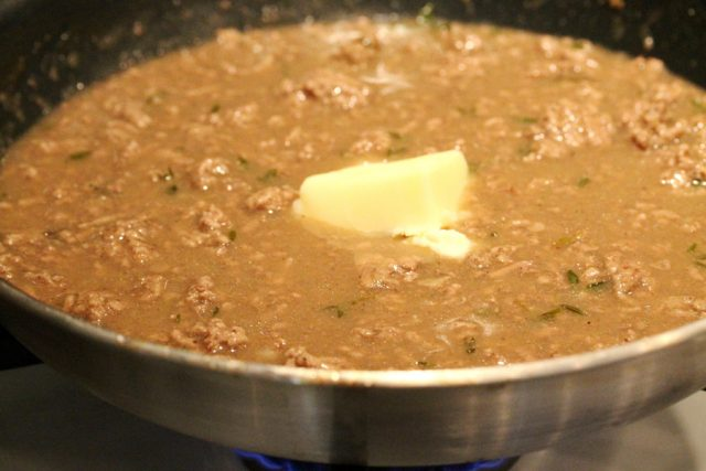 Butter and Gravy in Pan