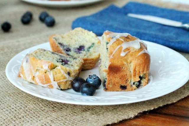 Mini Banana Blueberry Bread