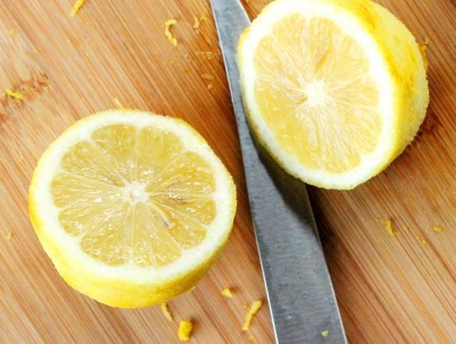 Cut Lemon in Half