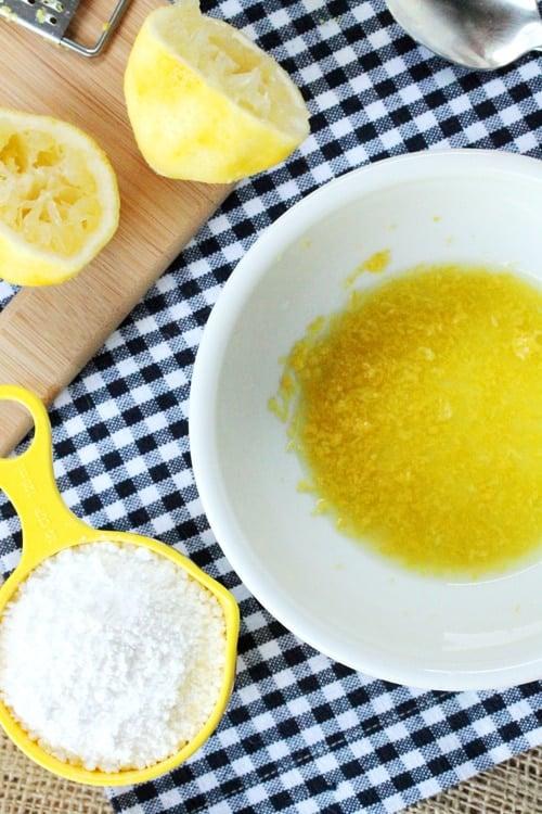 Lemon Juice and Powdered Sugar