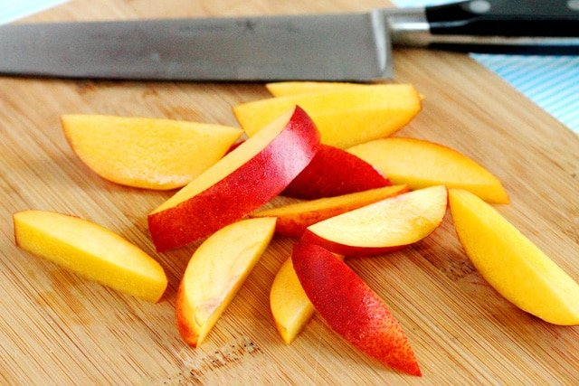 Cut Nectarines