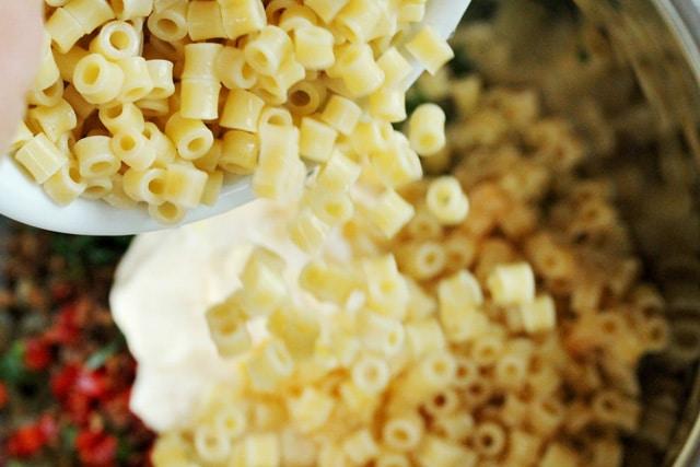 Macaroni in Bowl