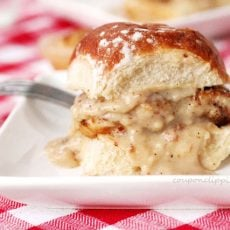fried chicken gravy sliders