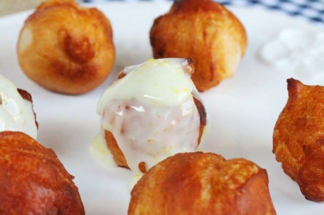 Glaze on Doughnut Balls