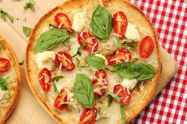 Tomato Basil Naan Pizza