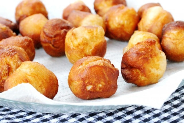 Fried Doughnut Balls on Plate