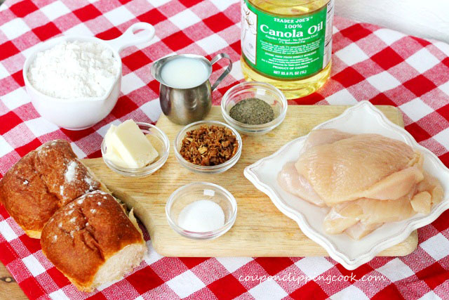 Fried Chicken Gravy Slider ingredients