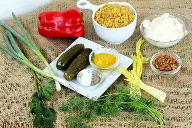 Dill Macaroni Salad Ingredients