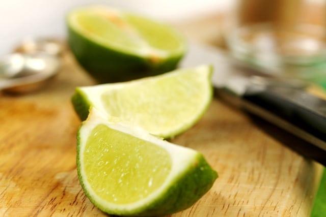 Lime Cut in Quarters