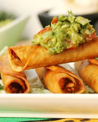 Spicy Chicken and Lime Taquitos