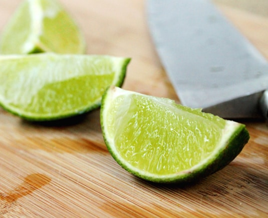 Quartered Limes on Board