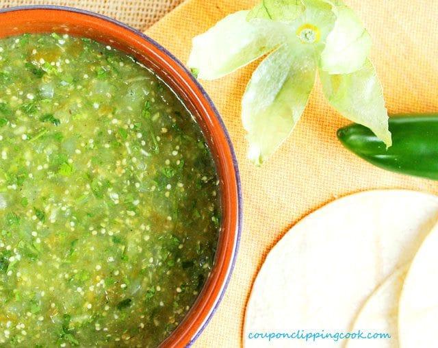 Green Salsa in Bowl
