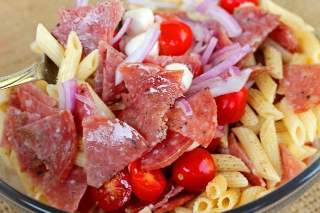 Stir Salami Pasta Salad