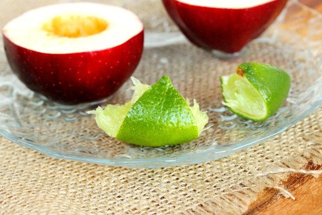 Lime Juice on Cut Apple