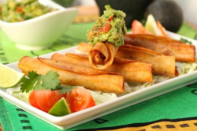 Chicken Taquitos with Guacamole