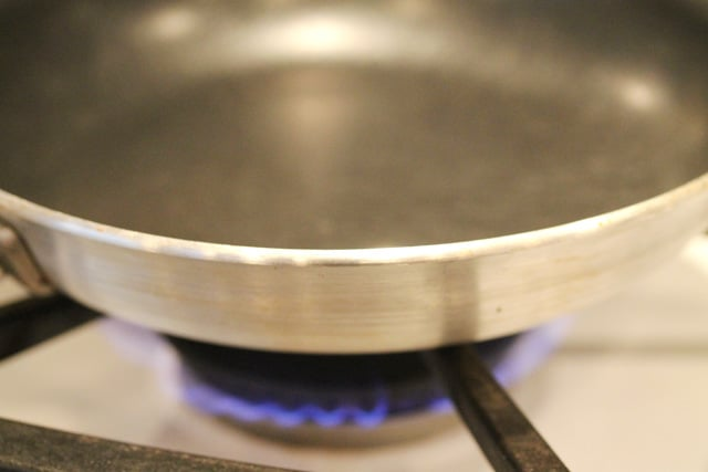 Skillet on Stove Top