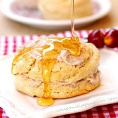 Honey and Apple Butter Biscuit