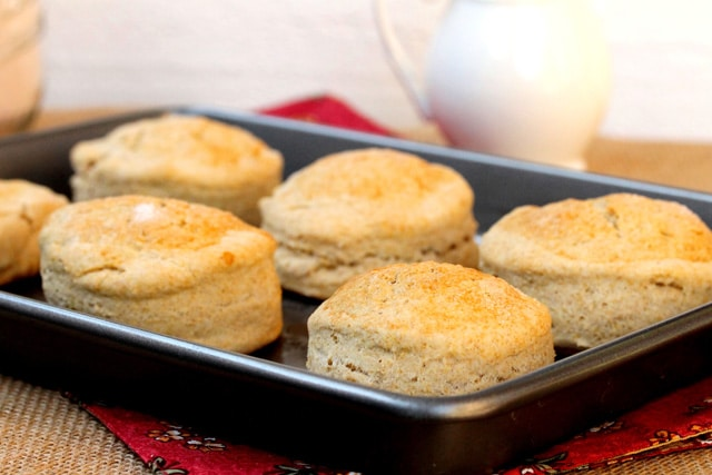 Baked Biscuits on Pan