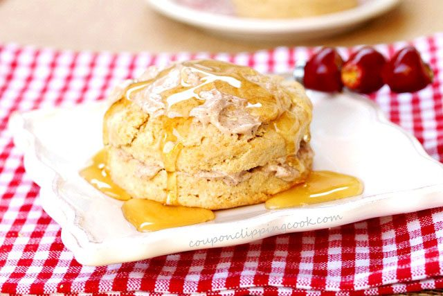 Honey and Apple Butter on Biscuit