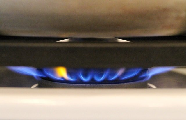 Flame on Stove Top Burner