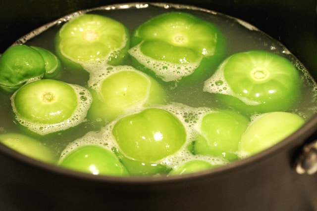 Tomatillos in Broth