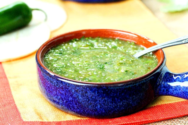 Green Salsa (Salsa Verde) in Bowl