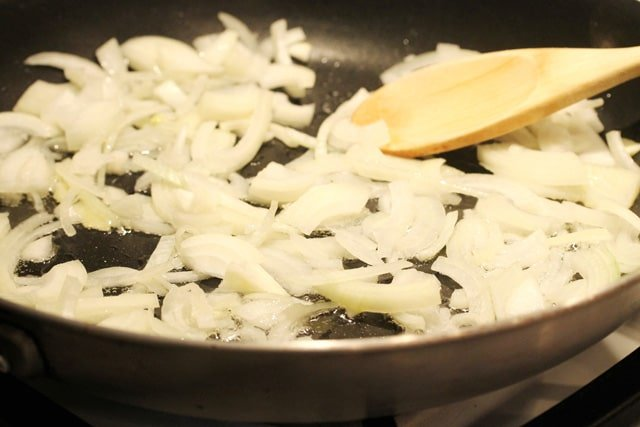 Cook Onions in Pan
