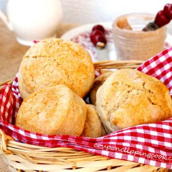 Wheat Biscuits in Basket