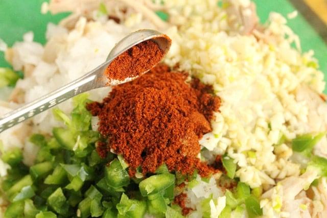Chili Powder in Taquito Filling