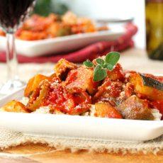 Tomato Zucchini on Plate