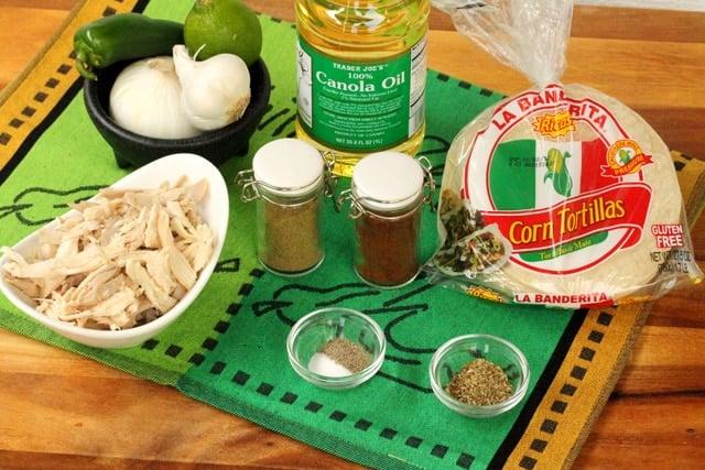 Chicken Taquito Ingredients