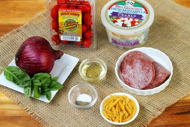 Salami Caprese Salad Ingredients