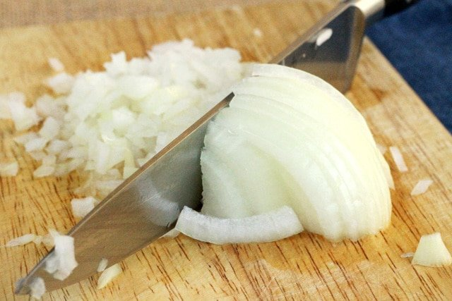 Chop White Onion