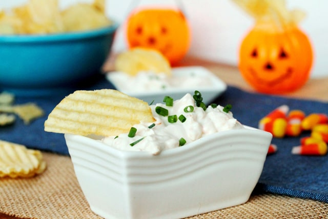 Onion Dip in Bowl
