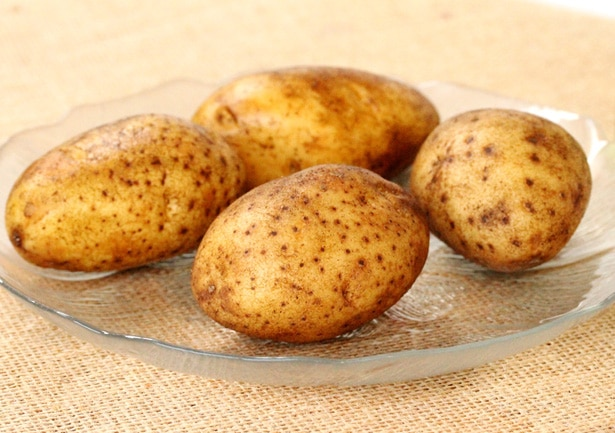 Russet Potatoes on Plate