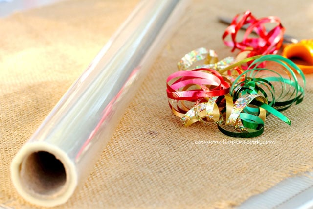 Cellophane and Curling Ribbon