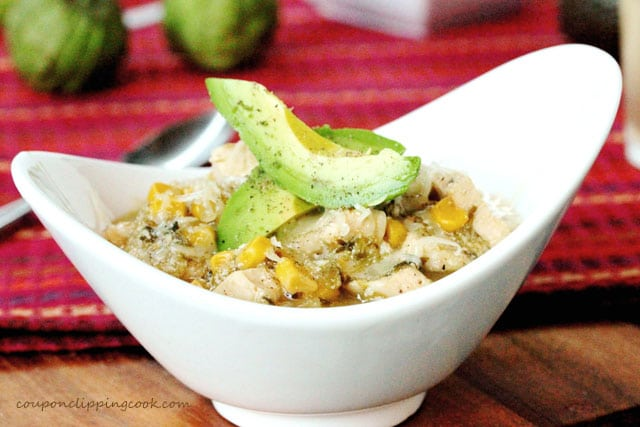 Salsa Verde Chicken and Rice in bowl