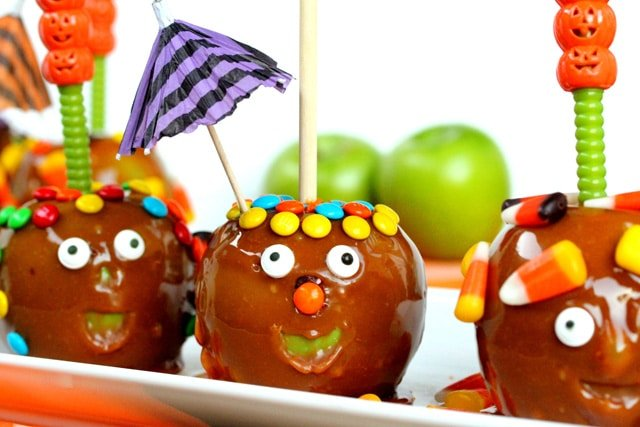 Funny face caramel apples coupon clipping cook for Caramel apple recipes for halloween