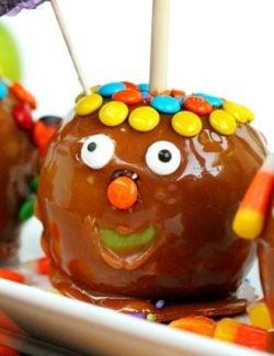 Funny Face Caramel Apples