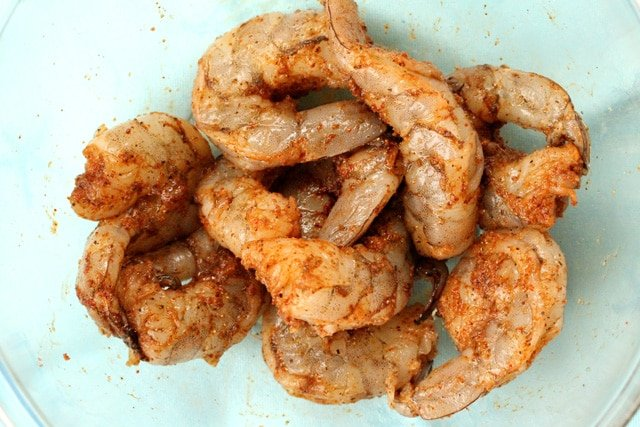 Seasoned Shrimp in Bowl