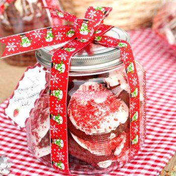 Holiday Cookie Packaging in Jar