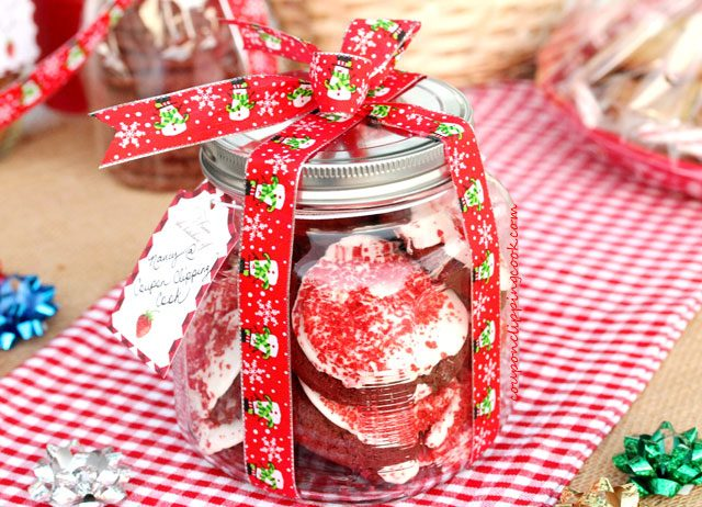 Holiday Decorated Jar of Cookies