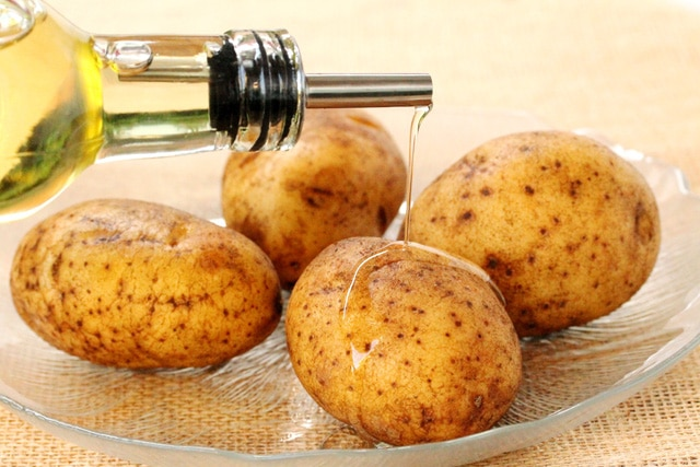 Olive Oil on Potatoes