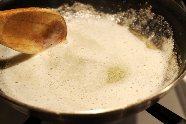 Melted Butter in Skillet